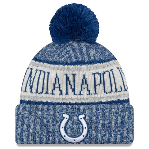 Indianapolis Colts Beanie New Era 2018 Sideline Official Sport Knit Hat