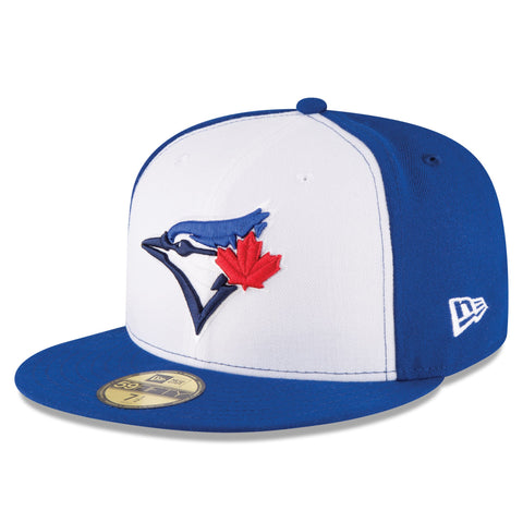 Toronto Blue Jays Fitted New Era 59Fifty On-Field Authentic Tri White/Royal 2017 Cap Hat