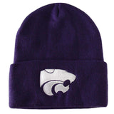 Kansas State Wildcats Logo 7 Knit Fold Beanie Purple