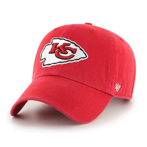 Kansas City Chiefs Strapback 47 Brand Clean Up Adjustable Cap Hat Red