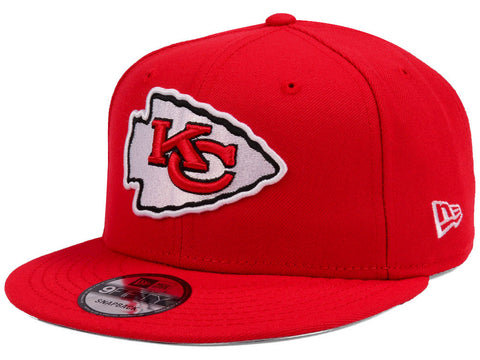 Kansas City Chiefs Snapback New Era Team Basic Cap Hat Red