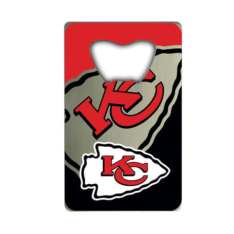 Kansas City Chiefs Credit Card Style Bottle Opener