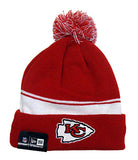 Kansas City Chiefs Beanie New Era 2 in 1 Cuff Flip Embroidered Pom Red