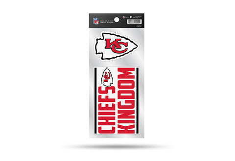 Kansas City Chiefs Double Up Die Cut Sticker 2pc