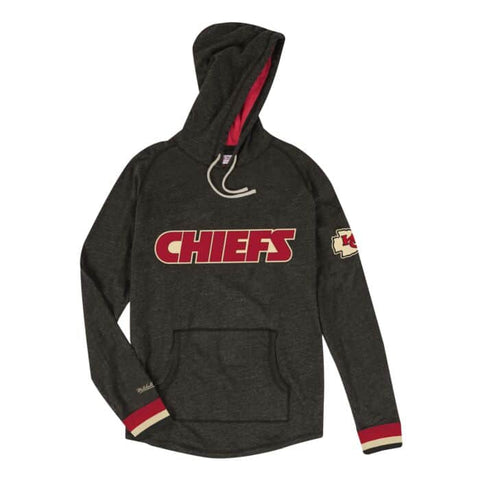 Kansas City Chiefs Mens Mitchell & Ness Lightweight Hooded Sweatshirt
