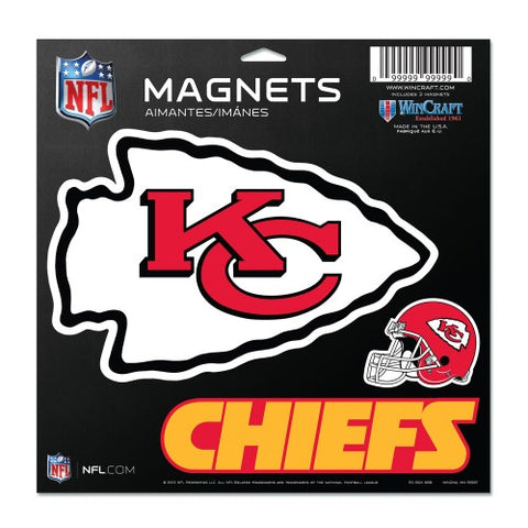 Kansas City Chiefs Vinyl Magnet 3 Piece