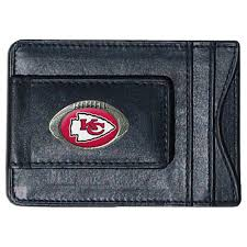 Kansas City Chiefs Magnetic Leather Card Holder Money Clip Wallet