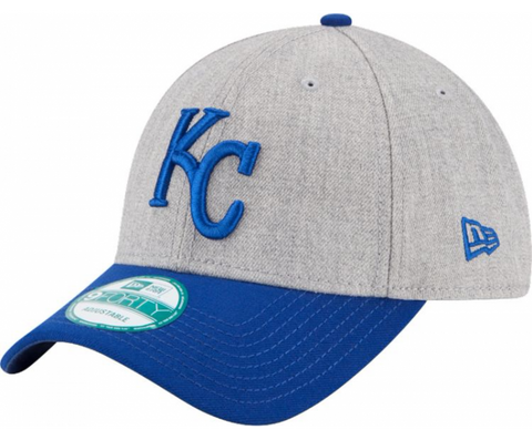 Kansas City Royals Velcro New Era 9Forty Adjustable The League Heather Cap Hat