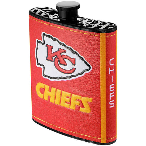 Kansas City Chiefs 7oz. Logo Wrapped Plastic Hip Flask