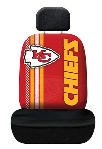 Kansas City Chiefs Auto Rally Seat Cover One Size Universal Fit