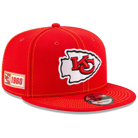 Kansas City Chiefs Snapback New Era 9Fifty 2019 NFL Sideline Road Adjustable Hat