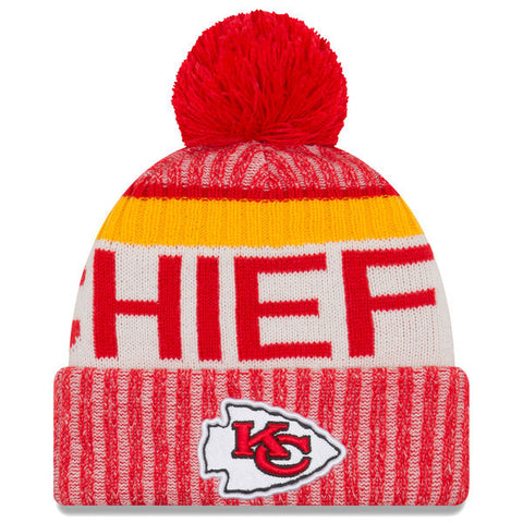 Kansas City Chiefs Beanie New Era 2017 Sideline Official Sport Knit Hat