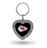 Kansas City Chiefs Rhinestone Heart Key Chain