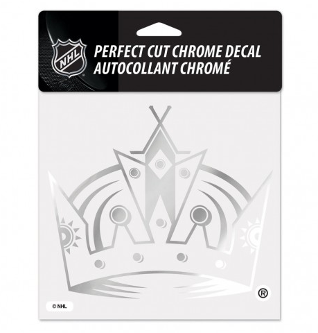 "Los Angeles Kings Chrome Prefect Cut Decal 6"" X 6"""