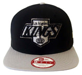 Los Angeles Kings Snapback New Era Jumbo Logo Cap Hat Black Grey