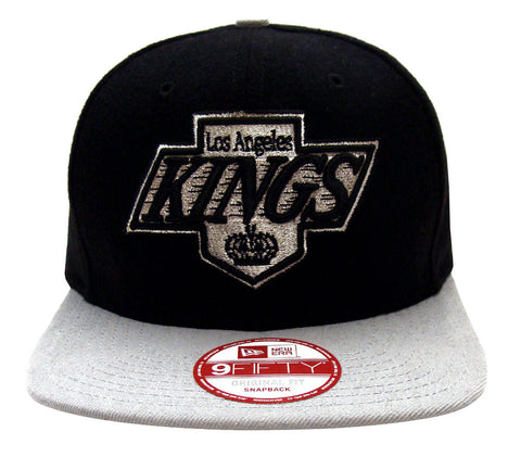 Los Angeles Kings Snapback New Era Melt Motion Cap Hat Black Grey