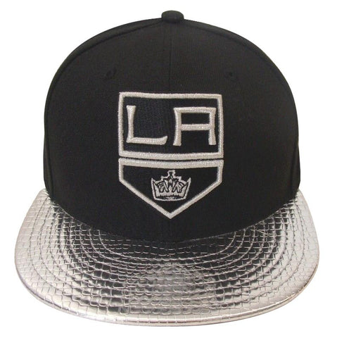 Los Angeles Kings Fitted New Era 59Fifty Metallic Slither Black Cap Hat