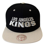 Los Angeles Kings Snapback Mitchell & Ness Monolith Cap Hat Black Gray