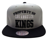 Los Angeles Kings Snapback Style Strapback Mitchell & Ness Property Of Zipback Cap Gry Blk