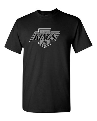 Los Angeles Kings Mens Majestic Throwback Logo T-Shirt Black