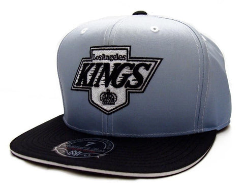 Los Angeles Kings Fitted Mitchell & Ness The Fade 2 Tone Cap Hat Grey Black