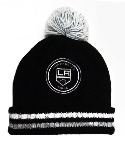Los Angeles Kings Beanie Mitchell & Ness Big Man Hi-Five Cuffed Knit Pom Black