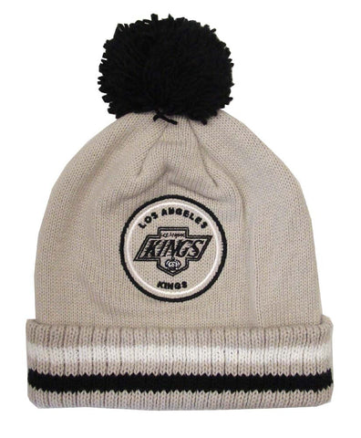 Los Angeles Kings Beanie Mitchell & Ness Big Man Hi-Five Cuffed Knit Pom Grey