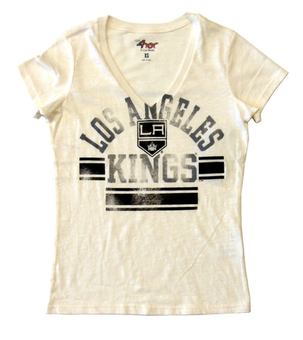 Los Angeles Kings Womens G-III Pass Route T-Shirt Blouse White