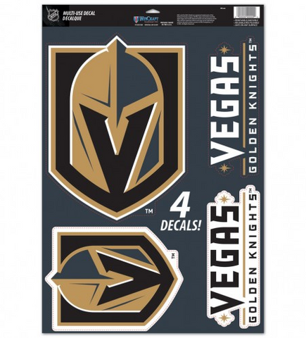 "Vegas Golden Knights Multi Use Decal 11"" X 17"" 4 in 1"