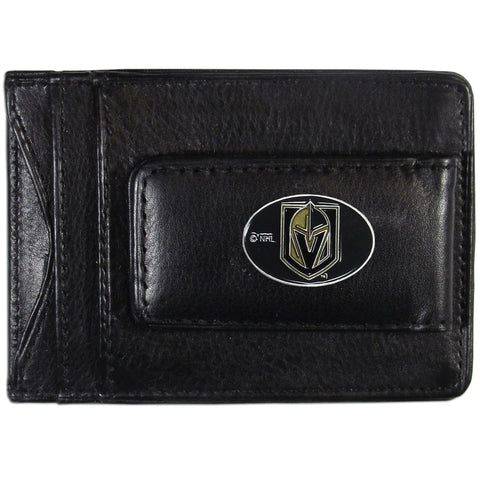 Las Vegas Knights Magnetic Leather Money Clip Wallet