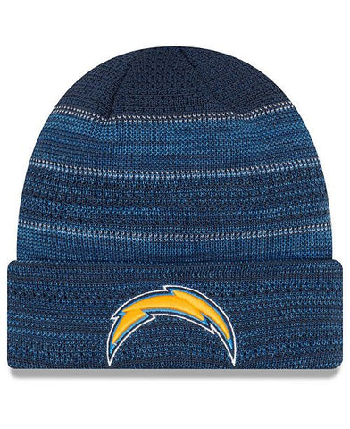 Los Angeles Chargers Beanie New Era Touchdown Knit Fold Blue