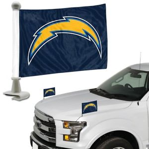 Los Angeles Chargers Auto Ambassador Flag Set