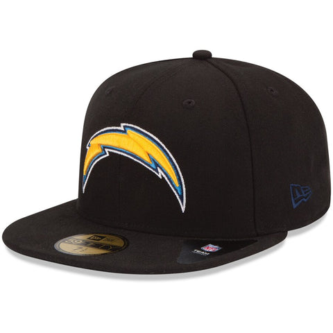 Los Angeles Chargers Fitted New Era Color Logo Cap Hat Black