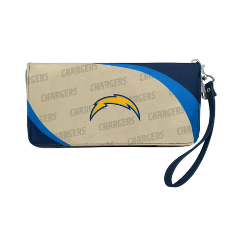 Los Angeles Chargers Womens Wallet Curve Zip Organizer