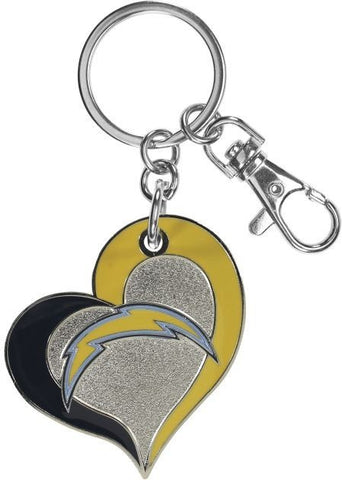 Los Angeles Chargers Keychain Swirl Heart