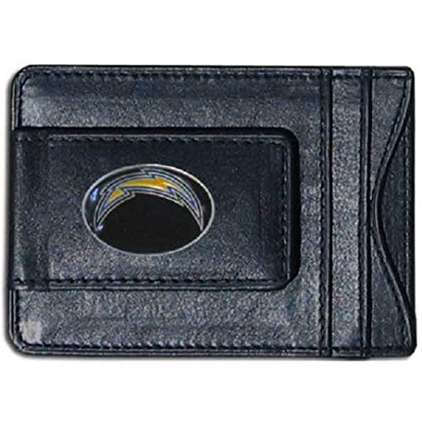 Los Angeles Chargers Magnetic Leather Card Holder Money Clip Wallet