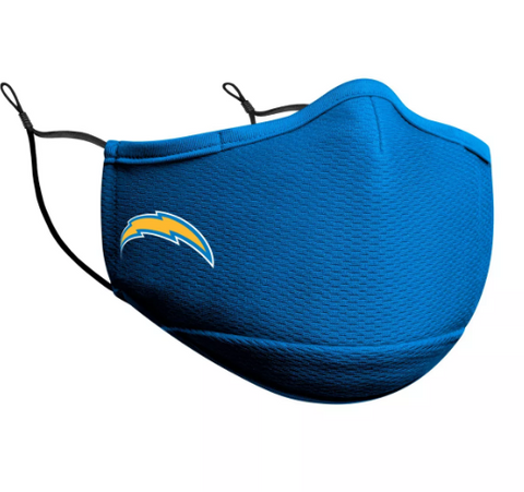 Los Angeles Chargers New Era Face Mask Light Blue