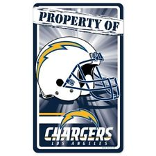 Los Angeles Chargers Bar and Home Decor Property of Sign
