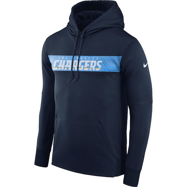 Cheap Los Angeles Chargers Mens Nike Sideline Performance Pullover Hooded