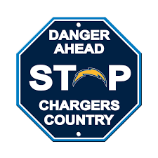 Los Angeles Chargers Bar Home Decor Plastic Stop Sign