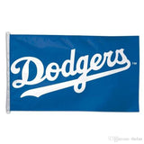 Los Angeles Dodgers Bar Home Decor Flag Wordmark Logo 3' X 5'