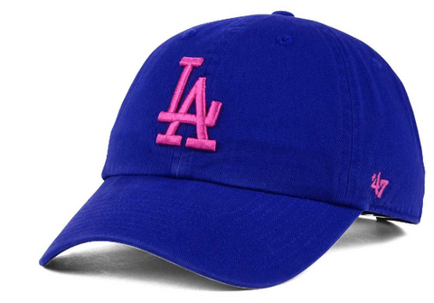 Los Angeles Dodgers Strapback '47 Brand Clean Up Adjustable Cap Ha