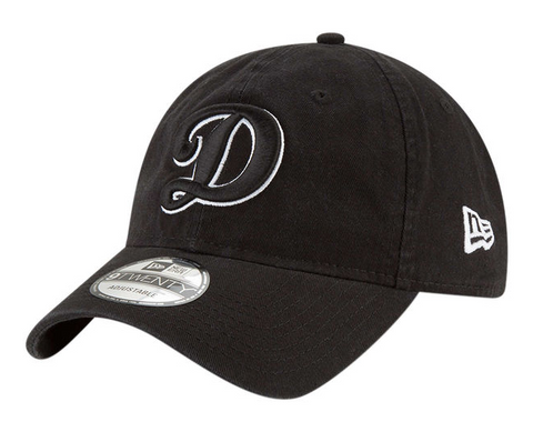 Los Angeles Dodgers Strapback Adjustable New Era 9Twenty D Cap Hat Black WO