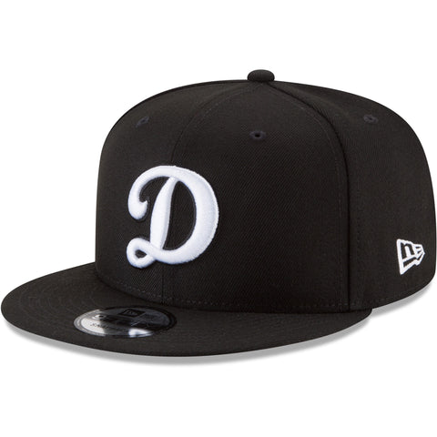 Los Angeles Dodgers Snapback Big D New Era 9FIFTY Cap Hat Black WL