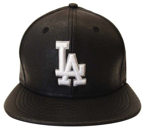 Los Angeles Dodgers Snapback Style Strapback New Era Anihybrid Faux Snake  Black