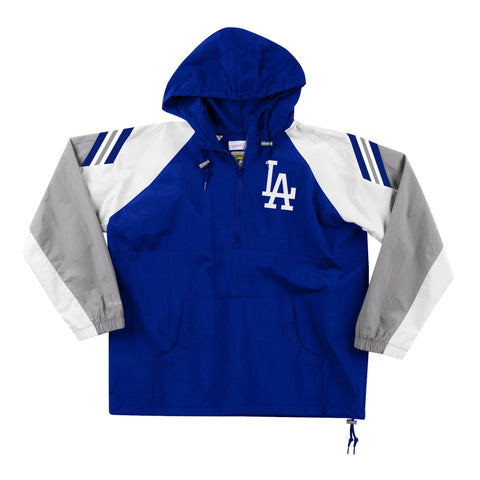 Los Angeles Dodgers Mens Jacket Mitchell & Ness Half Zip Anorak Blue