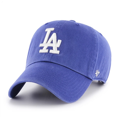 Los Angeles Dodgers Strapback '47 Brand Clean Up Adjustable Cap Hat Blue