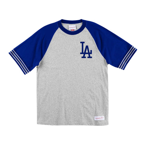 Los Angeles Dodgers Mens T-Shirt Mitchell & Ness Captain Tee Blue Grey