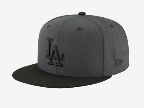 Los Angeles Dodgers Snapback New Era Logo Cap Hat Charcoal Black