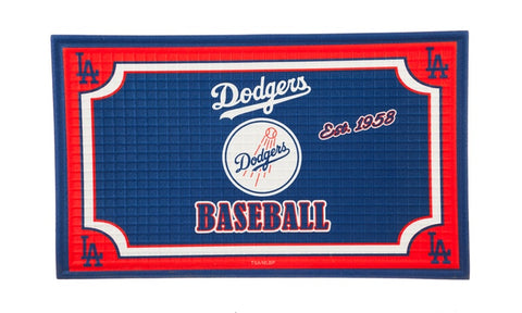 "Los Angeles Dodgers 18""x30"" Embossed Door Mat"